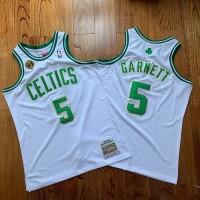 Kevin Garnett Mitchell & Ness Boston Celtics 2007-08 Champions White Jersey - Super AAA