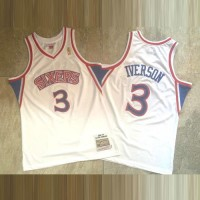 Allen Iverson Mitchell & Ness Philadelphia 76ers 1996-97 Rookie Season White Jersey - Super AAA
