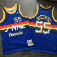 Dikembe Mutombo Mitchell & Ness Denver Nuggets 1991-92 Rookie Season Blue Jersey - Super AAA