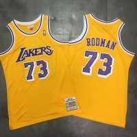 Dennis Rodman Mitchell & Ness Los Angeles Lakers 1998-99 Yellow Jersey - Super AAA