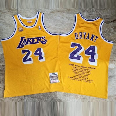 **Kobe Bryant Achievements Mitchell & Ness Los Angeles Lakers 60th Anniversary Special Edition Jersey - Super AAA