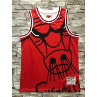 Chicago Bulls M&N Big Face Red Jersey