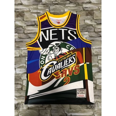 Kyrie Irving's Teams M&N Big Face Jersey