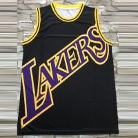 Los Angeles Lakers Black M&N Big Face Jersey