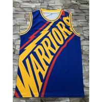 Golden State Warriors M&N Big Face Blue Jersey