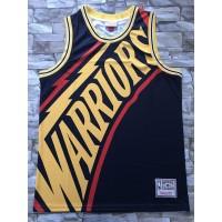 Golden State Warriors M&N Big Face Navy Blue Jersey