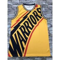 Golden State Warriors M&N Big Face Yellow Jersey