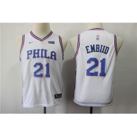 Joel Embiid Philadelphia 76ers White Kids/Youth Jersey