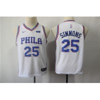 Ben Simmons Philadelphia 76ers White Kids/Youth Jersey