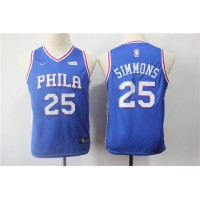 Ben Simmons Philadelphia 76ers Blue Kids/Youth Jersey