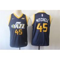 Donovan Mitchell Utah Jazz Navy Blue Kids/Youth Jersey