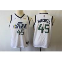 Donovan Mitchell Utah Jazz White Kids/Youth Jersey