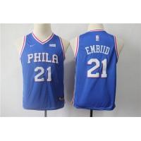 Joel Embiid Philadelphia 76ers Blue Kids/Youth Jersey
