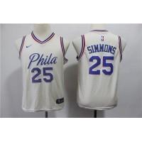 Ben Simmons Philadelphia 76ers 2018 City Edition Kids/Youth Jersey