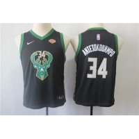 Giannis Antetokounmpo Milwaukee Bucks Black Kids/Youth Jersey
