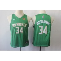 Giannis Antetokounmpo Milwaukee Bucks Green Kids/Youth Jersey