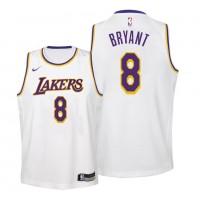 Kobe Bryant #8 Los Angeles Lakers 2019 White Jersey
