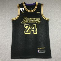 **Kobe Bryant 2020 Black Mamba Los Angeles Lakers Jersey with Gigi Bryant Heart Patch**