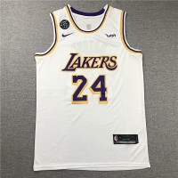 Kobe Bryant #24 Los Angeles Lakers 2019 White Jersey with KB Patch