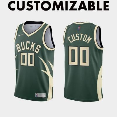 *Milwaukee Bucks 2020-21 Earned Edition Customizable Jersey