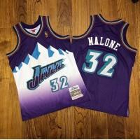 Karl Malone Mitchell Ness Utah Jazz 1996-97 Purple Jersey - Super AAA