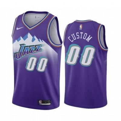 Utah Jazz Classic Edition Purple Customizable Jersey