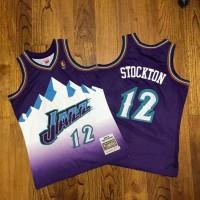 John Stockton Mitchell Ness Utah Jazz 1996-97 Purple Jersey - Super AAA
