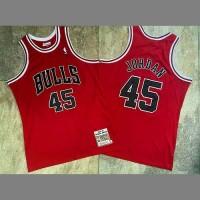 *Michael Jordan No.45 Mitchell & Ness Chicago Bulls 1994-95 Red Jersey - Super AAA