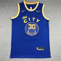 *Stephen Curry Golden State Warriors 2020-21 Classic Blue Jersey