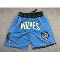 Minnesota Timberwolves Light Blue JUST DON Special Edition Shorts