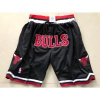 Chicago Bulls Black JUST DON Shorts