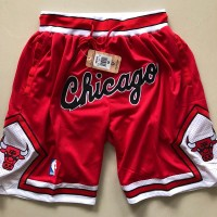 "Chicago Bulls ""Chicago"" Red JUST DON Shorts"