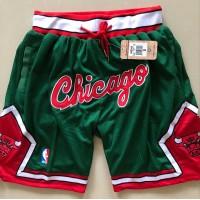 Chicago Bulls Green JUST DON Shorts