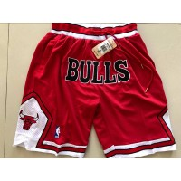 Chicago Bulls Red JUST DON Shorts