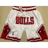 Chicago Bulls White JUST DON Shorts