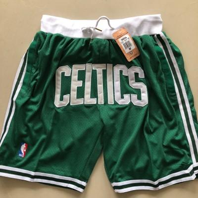 Boston Celtics Green JUST DON Shorts
