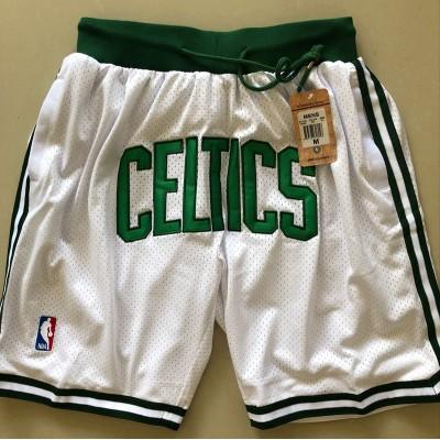 Boston Celtics White JUST DON Shorts