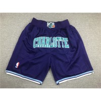 Charlotte Hornets Purple JUST DON Shorts