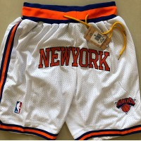 New York Knicks White JUST DON Shorts