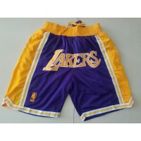 Los Angeles Lakers Purple JUST DON Shorts