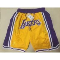 Los Angeles Lakers Yellow JUST DON Shorts