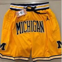 Michigan Wolverines Yellow JUST DON Shorts