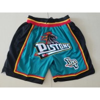 Detroit Pistons Teal JUST DON Shorts