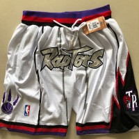 Toronto Raptors White JUST DON Shorts