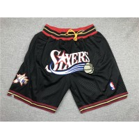Philadelphia 76ers Black JUST DON Shorts