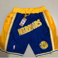Golden State Warriors Blue JUST DON Shorts