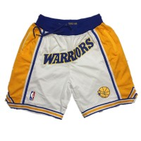 Golden State Warriors White JUST DON Shorts