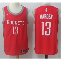 James Harden Houston Rockets Red 2017-18 NBA X Nike Swingman Jersey