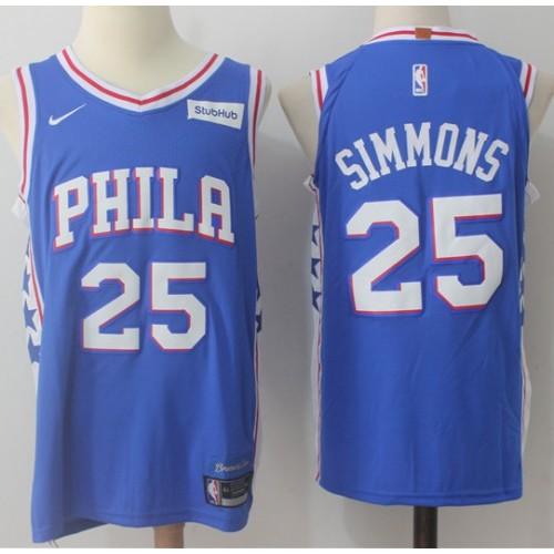 separation shoes 4b7b3 250ee Ben Simmons Philadelphia 76ers Blue Jersey