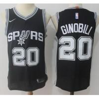 Manu Ginobili San Antonio Spurs Black Jersey